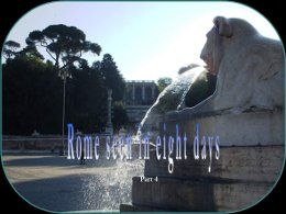 Rome seen in eight days part 4