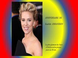 diaporama pps Anniversaire de Scarlett Johansson