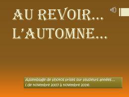 diaporama pps Au revoir l'automne