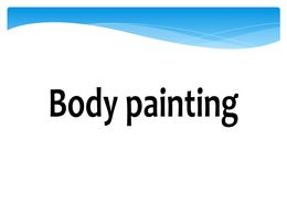 diaporama pps Body painting
