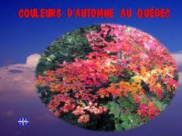 diaporama pps Couleurs d'automne au Québec