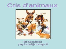 diaporama pps Cris d'animaux