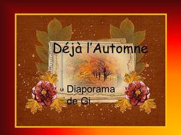 diaporama pps Déjà l'automne
