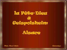 diaporama pps Fête Dieu à Geispolsheim en Alsace