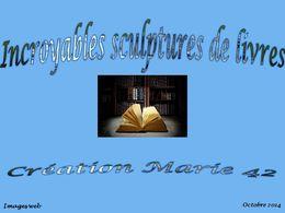 diaporama pps Incroyables sculptures de livres