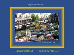 diaporama pps Isle sur Sorgue – Le marché flottant