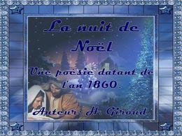 diaporama pps La nuit de Noël