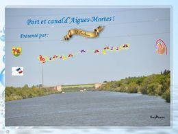 diaporama pps Le port et le canal d'Aigues-Mortes