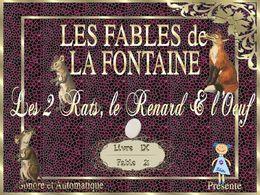 diaporama pps Les Deux Rats, le Renard et l'Œuf