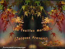 diaporama pps Les feuilles mortes 2014