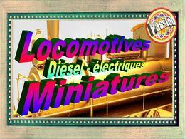 diaporama pps Locomotives diesel électriques miniatures