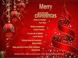 diaporama pps Merry Christmas songs