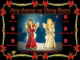 diaporama pps Merry Christmas mit Whitney Houston