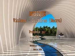 diaporama pps Musique violons guitares macro