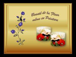 diaporama pps Peintures de fleurs