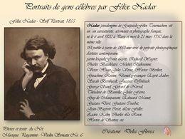 diaporama pps Portraits de gens célèbres Félix Nadar