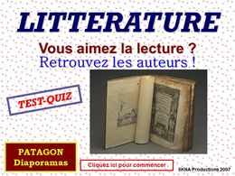 diaporama pps Quiz litterature
