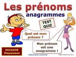 diaporama pps Quizz prénoms anagrammes