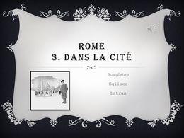 diaporama pps Rome 3 – Dans la ville