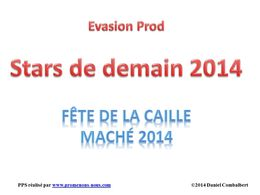 diaporama pps Fête de la caille – Maché 2014