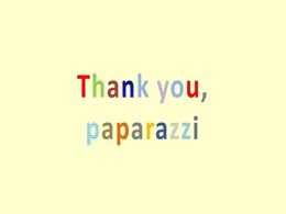 diaporama pps Thank you Paparazzi