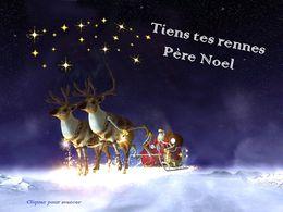 diaporama pps Tiens tes rennes Père Noël