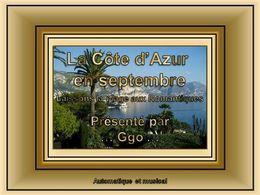 La côte d'Azur en septembre laissons la plage aux romantiques