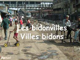 Bidonvilles villes bidons
