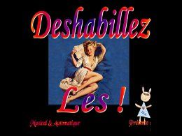 PPS Déshabillez la pin-up 1950-60