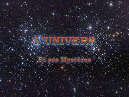 PPS sur l'univers