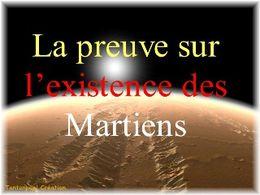 Diaporama humour La preuve sur l'existence des martiens