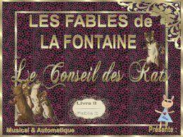 La Fontaine: Le conseil des rats