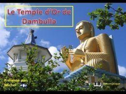 Le temple d'or de Dambulla au Sri Lanka