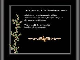 Les 10 œuvres d'art les plus chères au monde