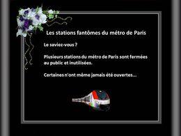 Les stations fantômes du métro de Paris