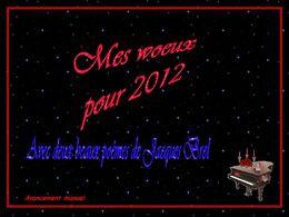 Mes vœux pour 2012 poèmes Jacques Brel