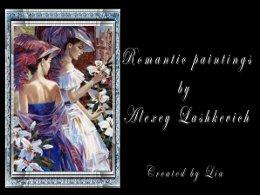 Alexey Lashkevich romantic paintings