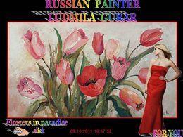 Russian painter Ludmila Gurar