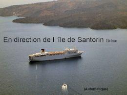 En direction de l'île de Santorin Grèce