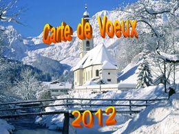 Vœux 2012 d'AndréL