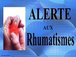 Alerte aux rhumatismes