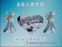 Beauté hivernale à Bernex Haute Savoie