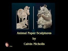 Calvin Nicholls animal paper sculpture