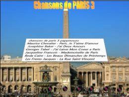 Chansons de Paris N°3