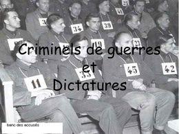 Criminels de guerres et dictatures