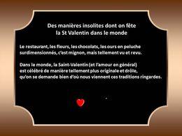 Diaporama Manières insolites dont on fête la St Valentin
