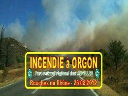 Diaporama Incendie à Orgon