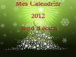Fond d'écran calendrier 2012