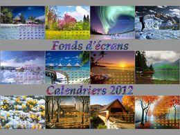 Fonds d'écrans - calendrier 2012