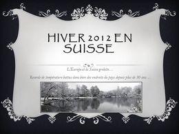 Hiver 2012 en Suisse